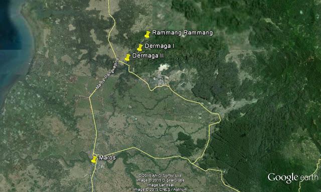 peta Karst Rammang Rammang