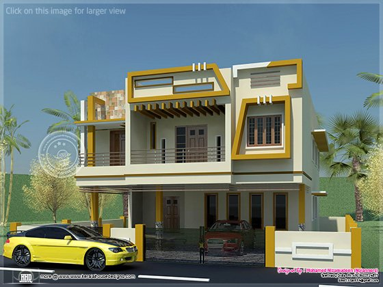 Modern Tamilnadu Style Home Design In 1508 Kerala Home Design And Floor Plans