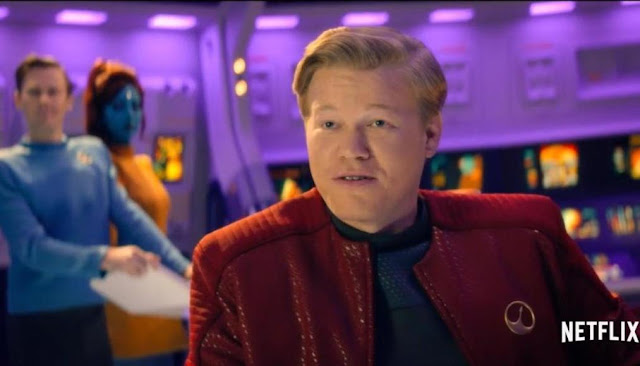 Black Mirror, Season 4, Episode 1, USS Callister, Still, Bridge of the spacecraft, Jesse Plemons as Robert Daly