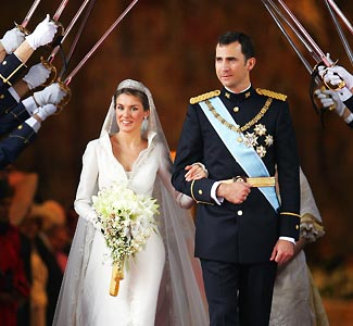 Spain S Crown Prince Married A Beautiful Television Newscaster In Roman Catholic Ceremony At Catedral Nuestra Señora De La Almudena Madrid