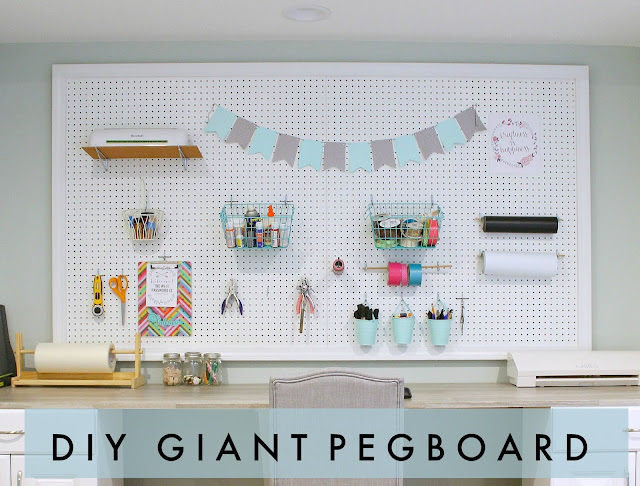Whether you have room for a small or large pegboard, follow this easy tutorial to make your own pegboard for organization!