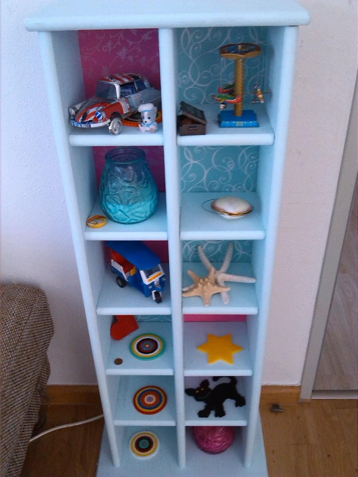 der bastelblog ein altes cd regal pimpen. Black Bedroom Furniture Sets. Home Design Ideas