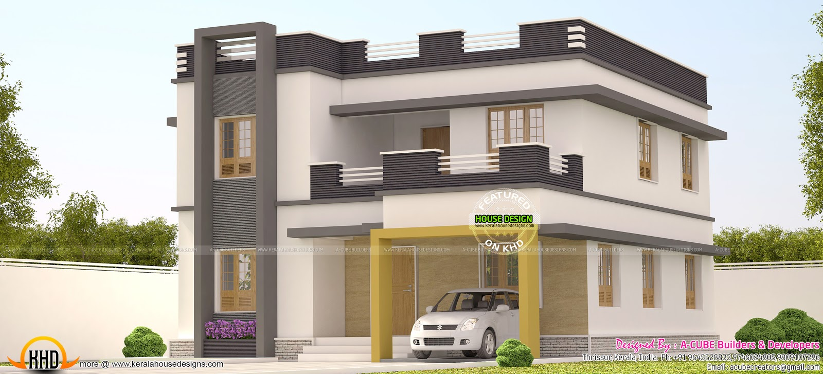 2252 sq ft flat roof 3 bedroom home