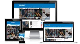 Blogius blogger template