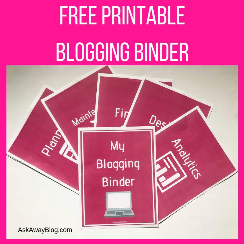 Ask Away Blog: FREE Printable Blogging Binder