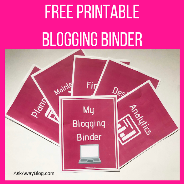 FREE Printable Blogging Binder