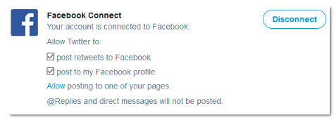 Connecting Twitter To Facebook<br/>