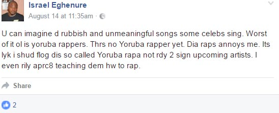 Nigerian artiste contemplates suicide after failing to make it big in music industry