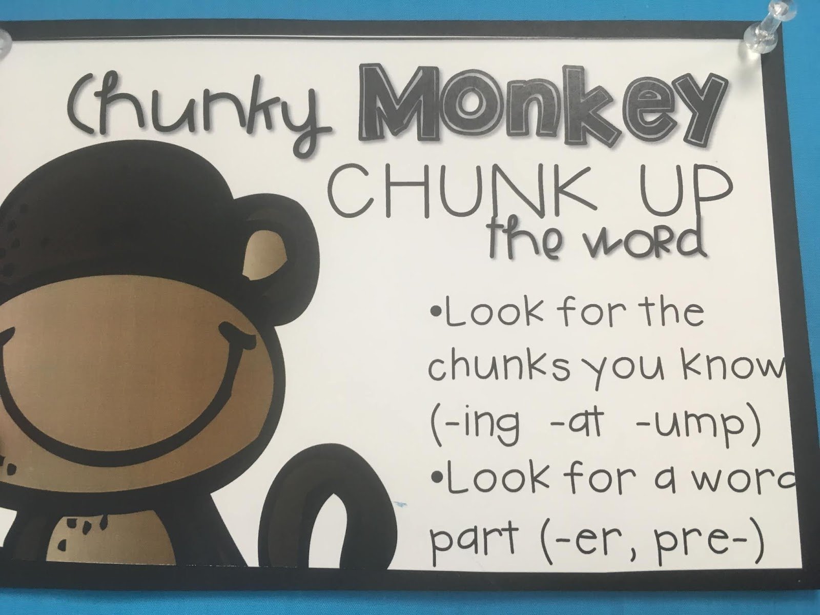 744160825d7 Good readers can use chunks or small words inside big words to figure out  unknown words. By chunking a word