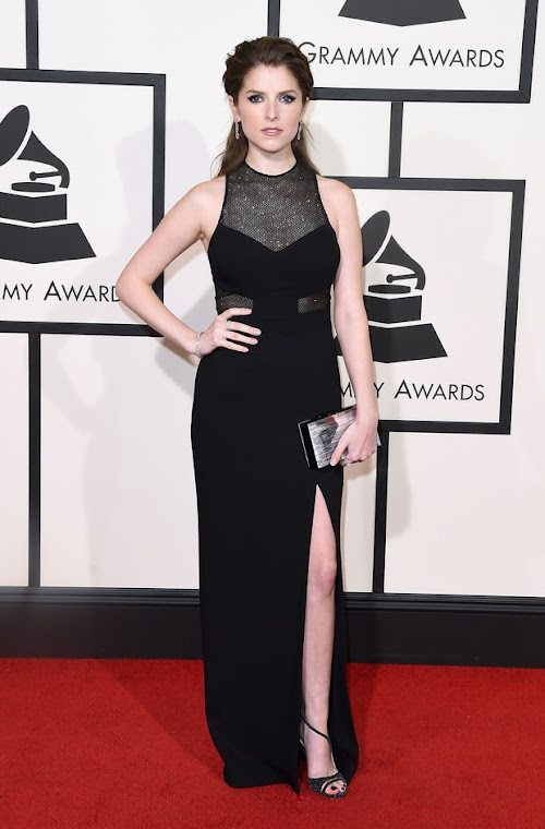 Anna Kendrick from the 2016 Grammys red carpet