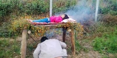 Tak punya biaya berobat, ayah di China bakar anaknya