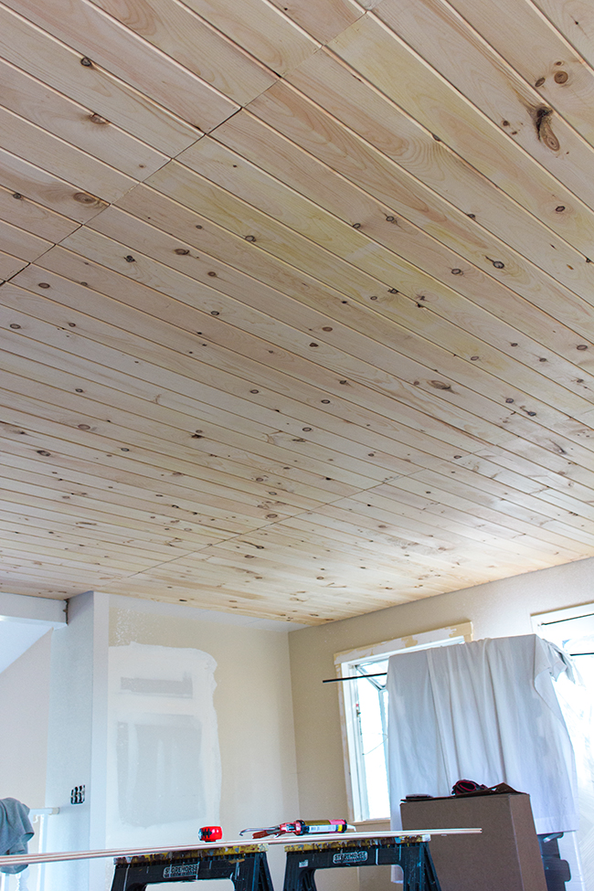 Kitchen Chronicles: DIY Tongue and Groove Plank Ceiling ...
