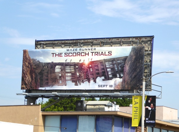 Maze Runner Scorch Trials movie billboard