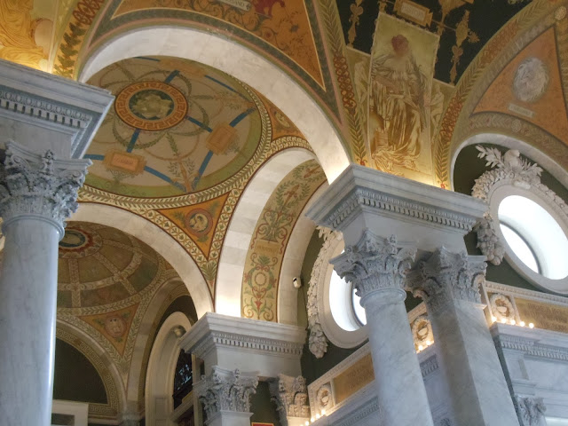 Ceiling of Thomas Jefferson Building Library of Congress