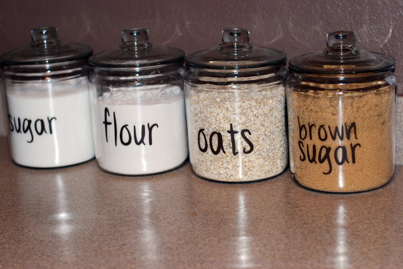 The Hardage House: Glass Kitchen Canisters