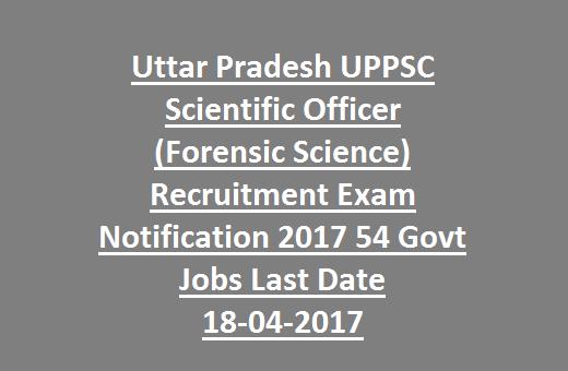 Uttar Pradesh UPPSC Scientific Officer Recruitment Exam ...