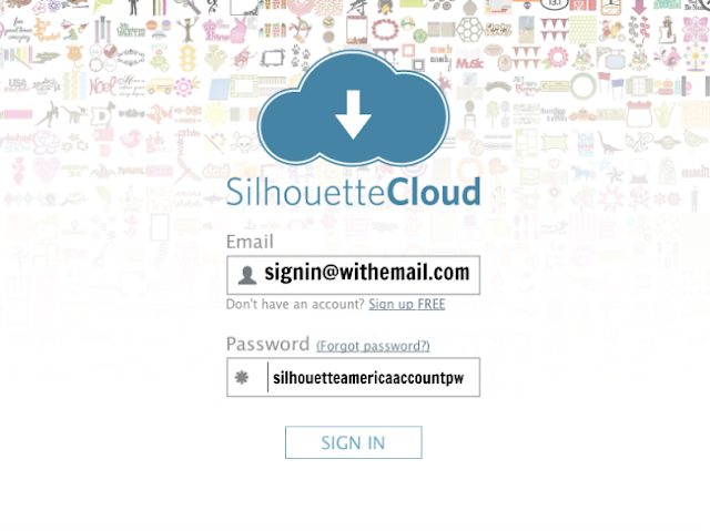 silhouette studio cloud sign into silhouette cloud silhouette cloud password