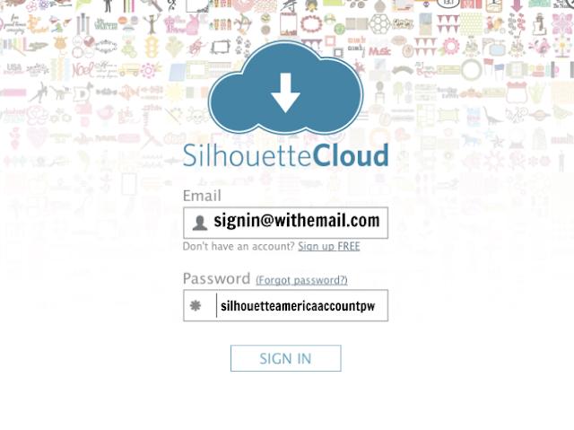 silhouette studio cloud sign into silhouette cloud silhouette cloud password