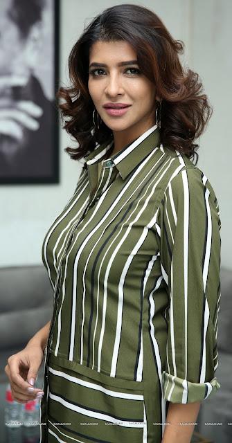Lakshmi Manchu juicy boobs hot big melon in sexy shirt HD Photos
