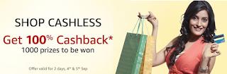 Amazon - 100% Cashback Offer upto Rs.5000 [Luck Based]