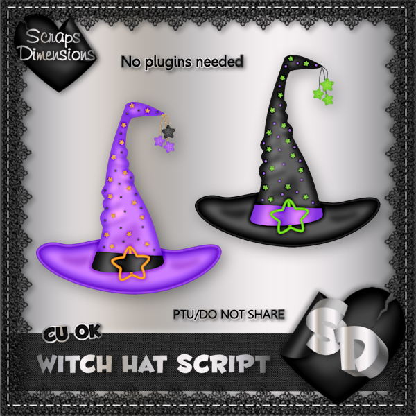 SCRAPS DIMENSIONS: HALLOWEEN TREATS CONE & WITCH HAT SCRIPTS