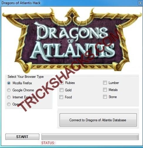 DRAGONS OF ATLANTIS HACK CHEATS TOOL 2013