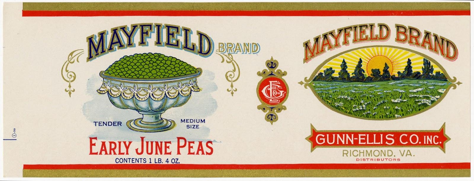 Distributors Richmond,Va. Powhatan Apple Sauce Vintage Can Label H.P Taylor Jr