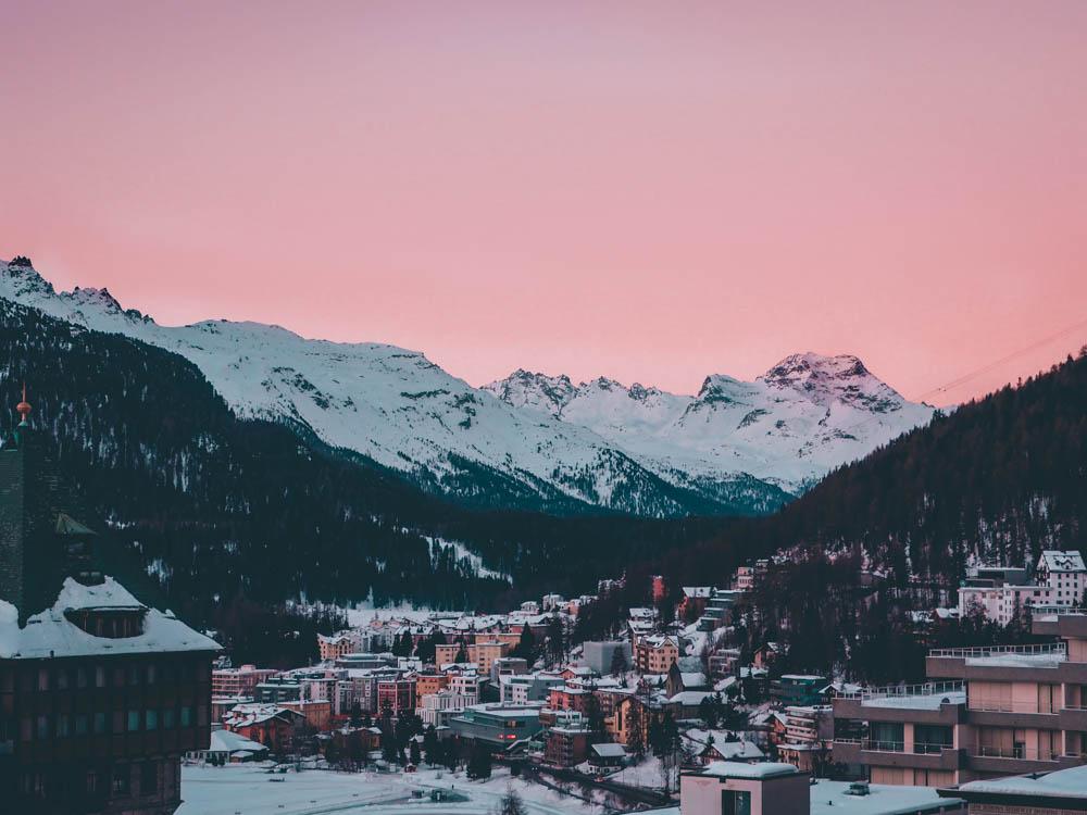 sunset saint-moritz blog voyage laquotidiennedele suisse bons plans hotel restaurant