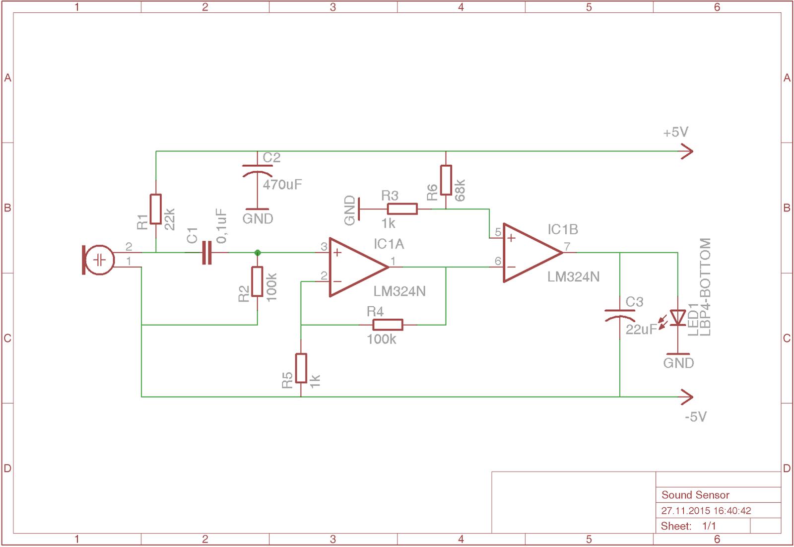 Electrical Electronics Engineering Blog Sound Sensor Lm324 Detector Using Electronic Projects Circuits
