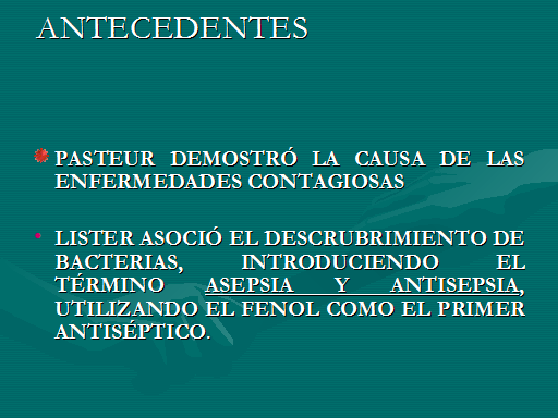 ANTISEPSIA DEFINICION EBOOK