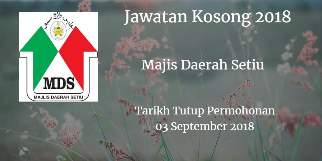 Jawatan Kosong Majis Daerah Setiu 03 September 2018