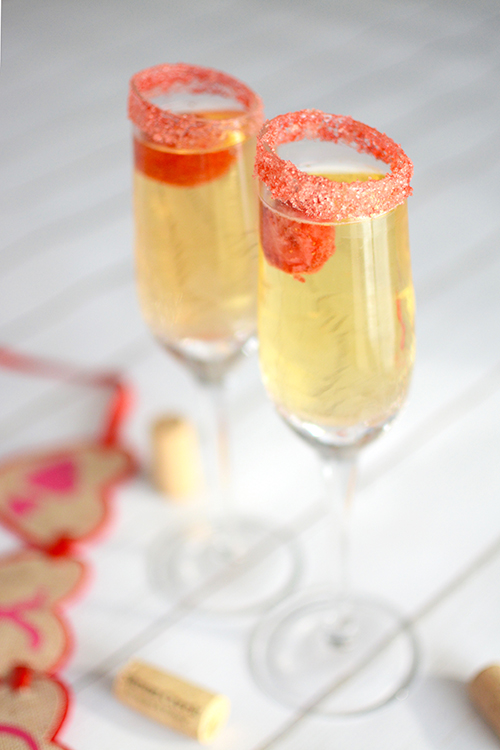 Valentine's Day Wine Spritzer | My Darling Days