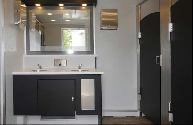 Sink Vanity and Mirror in The Industrial Trailer
