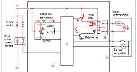 ford 900 wiring diagram cara kerja power window membuka/menutup secara manual ... #8