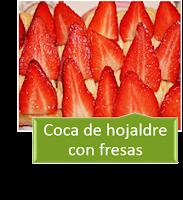 COCA DE HOJALDRE CON FRESAS
