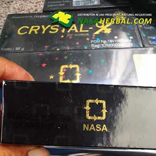 Ciri Crystal X Asli: Tercetak Logo Nasa Transparan dan Bintang