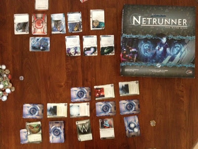 Netrunner living card game in play