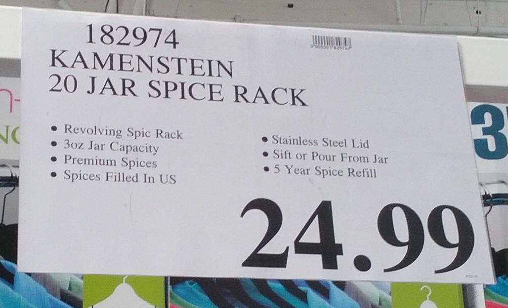 Kamenstein 20 Jar Stainless Steel Spice Rack Costco