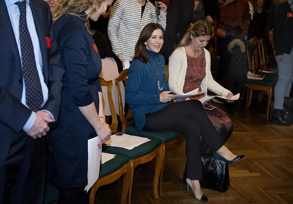 Crown Princess Mary participates as patron in The Mothers Help conference at the Christiansborg Palace