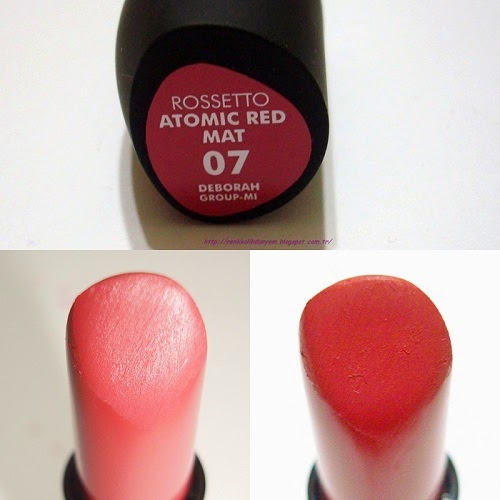 Deborah Milano Rossetto Atomic Red Ruj No 07 Renkkolik