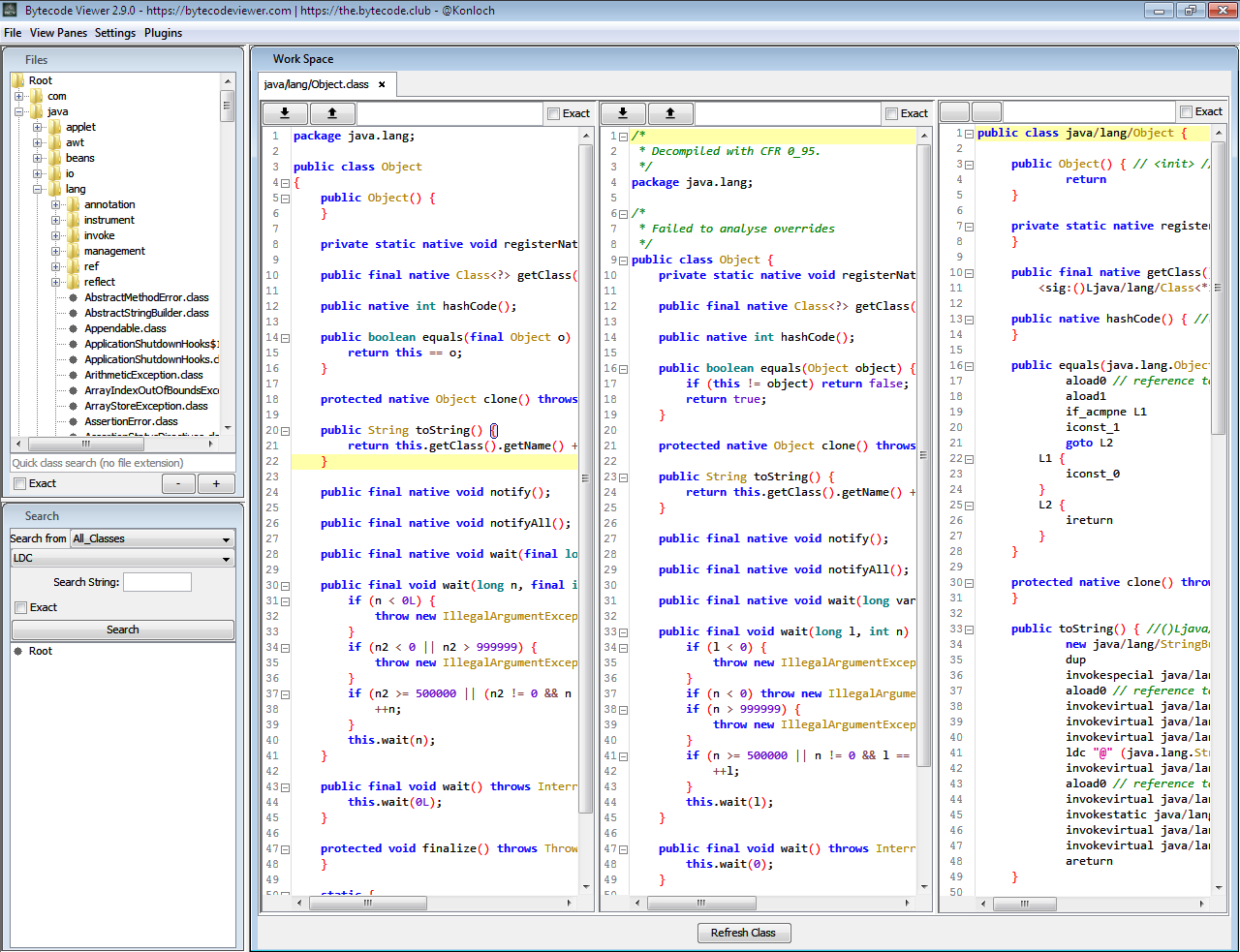 Bytecode viewer a java 8 jar android apk reverse engineering bytecode viewer is an advanced lightweight java bytecode viewer gui java decompiler gui bytecode editor gui smali gui baksmali gui apk editor baditri Choice Image