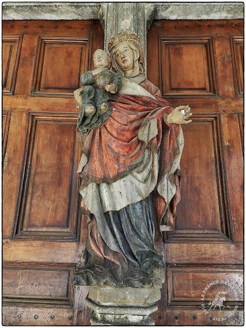 POLIGNY (39) - Vierge à l'Enfant (milieu XVe siècle)
