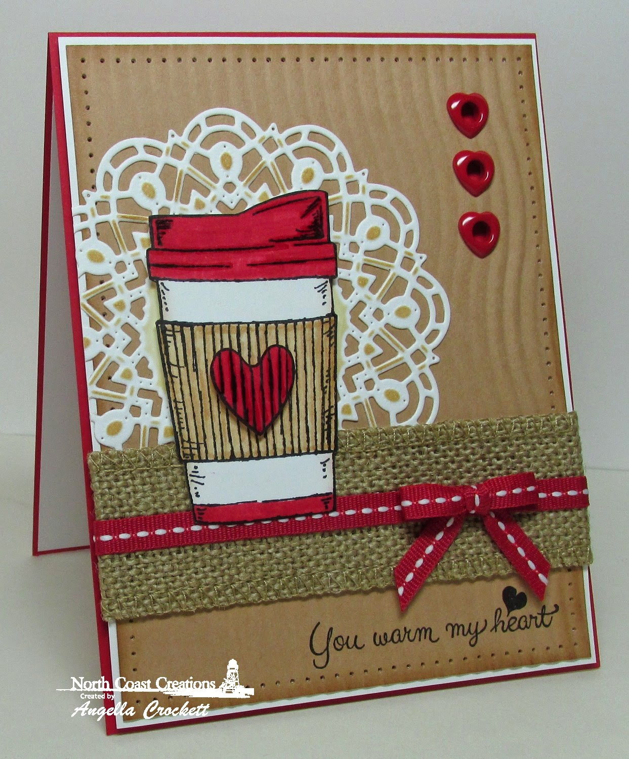 North Coast Creations Warm My Heart, ODBD Custom Doily Dies, Card Designer Angie Crockett