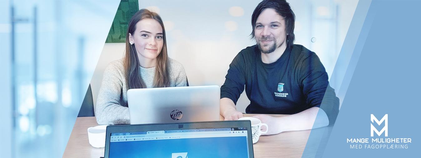 opplæringskonsulent på lærlingbesøk i Trondheim kommune