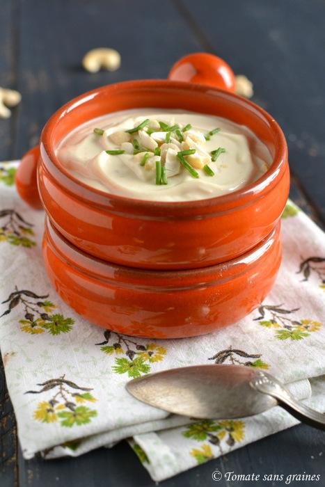 Mayonnaise végétale à la purée de noix de cajou