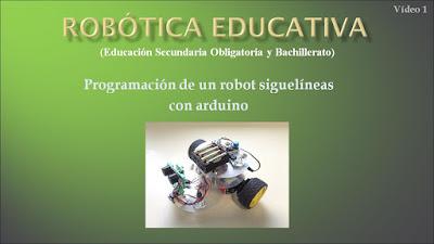 Vídeo tutorial programación de un robot siguelíneas con arduino