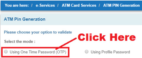 how to generate atm pin for new sbi debit card