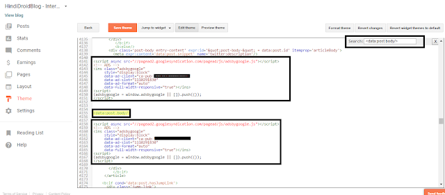How to add automatically Google AdSense code below post and titles in your blog