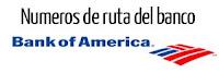 numero de ruta bancario o ABA ACH de los bancos de Estados Unidos