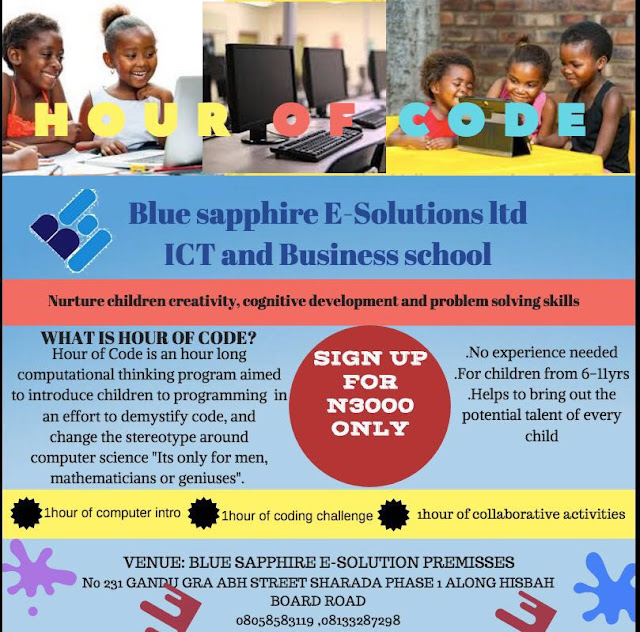 hour of code by Blue Sapphire E-Solutions
